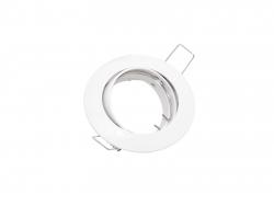 Deckeneinbaufassung MR16/GU10 schwenkbar für LED-Spots 50mm -weiß-