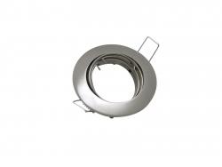 Deckeneinbaufassung MR16/GU10 schwenkbar für LED-Spots 50mm -chrom matt-