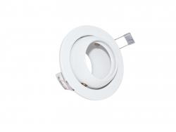 Restposten: Deckeneinbaufassung MR16/GU10 schwenkbar für LED-Spots 50mm -weiß-