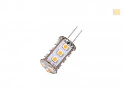 LED-G4 Lampe dimmbar, warmweiß, 12Vdc, 1,5W, ~ 50 Lumen, 15xLED, rund/frontstrahlend