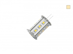 LED-G4 Lampe, dimmbar, warmweiß, 10-30Vdc, 2,5W, ~ 220 Lumen, 18x SMD LEDs, rund/frontstrahlend