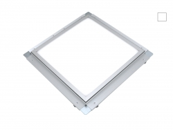 PUR-LED Panel-Light Frame 600 Inkl. Knauf-Revisionsrahmen für Rigips Einbau neutralweiß, 100-240Vac, 58W, dimmbar