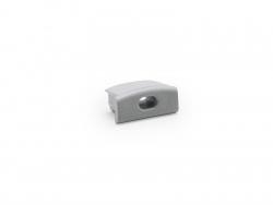 Endkappe LED Alu U-Profil Slim 7mm mit Kabeldurchg Kunststoff
