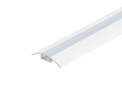 LED Alu Flachprofil weiß lackiert mit Abdeck