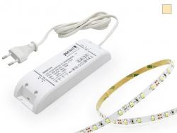 SET: LED Stripe 12Vdc, 60LEDs/m, warmweiß + Netzteil 5,0m