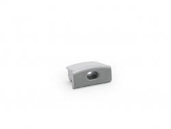 LED Endkappe für LED Aluminium U-Profil Slim 7mm, mit Kabeldurchgang, Kunststoff