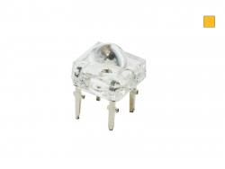 Restposten: 4-CHIP Superflux-LED ambergelb