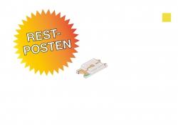 Restposten: gelbe SMD 1206 LED ultrahell, 160mcd max.
