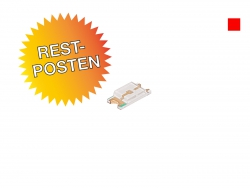 Restposten: rote SMD 1206 LED ultrahell, 160mcd max.