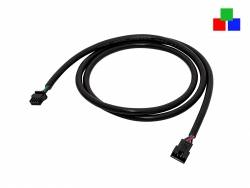 1m RGB Verlängerungsleitung mit Buchsen- / Steckeranschluss