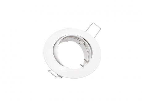 Deckeneinbaufassung MR16/GU10 schwenkbar für LED-Spots 50mm -weiß