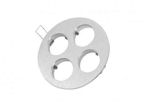 4-fach Einbaurahmen rund für Cursa 2.5W -Aluminium-
