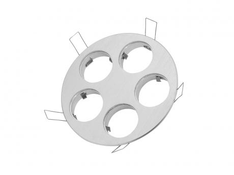 5-fach Einbaurahmen rund, für Cursa 2.5W -Aluminium-