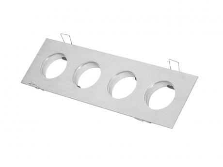 4-fach Einbaurahmen eckig für Cursa 2.5W -Aluminium-