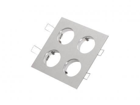 4-fach Einbaurahmen quadratisch für Cursa 2.5W -Aluminium-