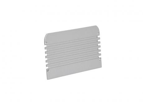 Endkappe LED Alu U-Profil 116mm ohne Kabeldurchgang Alu