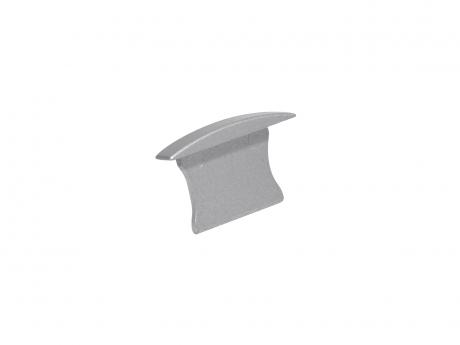Endkappe LED Alu T-Profil Slim 15mm ohne Kabeldurchgang Alu
