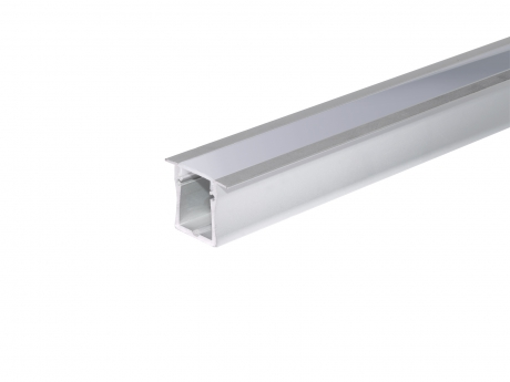 LED Alu T-Profil Slim XL 28mm silber mit Abdeckung 2,0m opalweiß