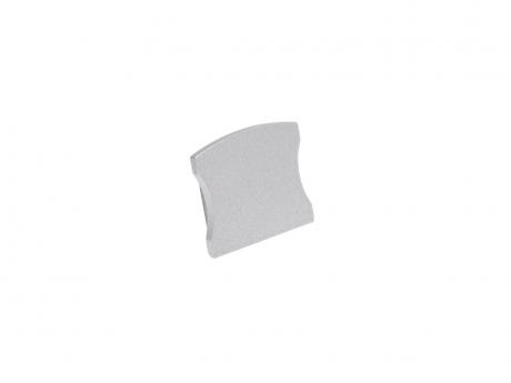 Endkappe LED Alu U-Profil Slim 15mm ohne Kabeldurchg Aluminium