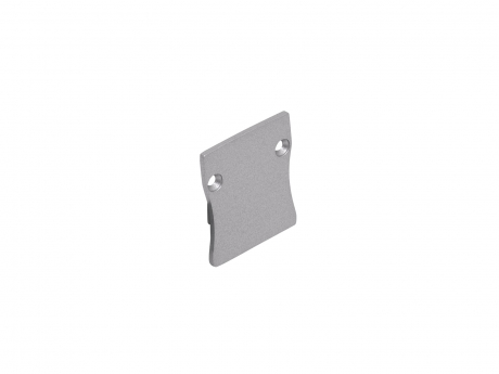 Endkappe LED Alu U-Profil Slim XL 28mm ohne Kabeldurchgang Alu