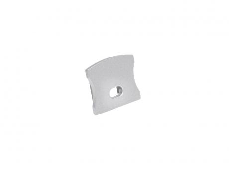 Endkappe LED Alu U-Profil Slim 15mm mit Kabeldurchg Aluminium