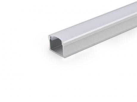 LED Alu U-Profil Slim 15mm silber mit Abdeck