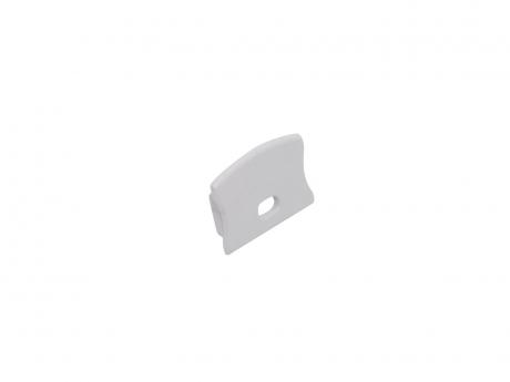 Endkappe LED Alu U-Profil Slim XL15mm mit Kabeldurchg Kunststoff