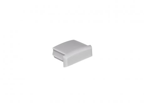 Endkappe für LED Alu-Profil AL-PU1 grau ohne Kabeldurchgang