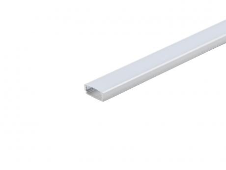 LED Alu U-Profil AL-PU1 6mm silber mit Abdeckung opalweiß 2,0m