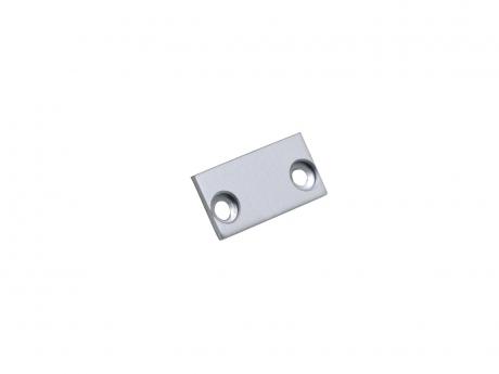 Endkappe LED Alu Profil XXLine Define Abdeckung flach Alu