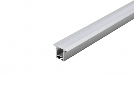 Alu T-Profil 20mm XXLine High T si mit Abd opalweiß 2,0m