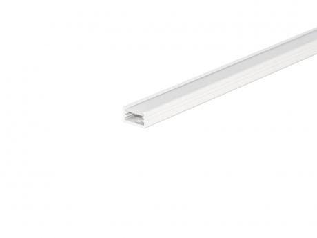 LED Alu U-Profil AL-PU2 7mm mit Abdeckung 1,0m weiß