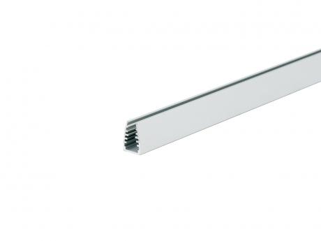 LED Alu Glaskanten-Profil AL-PU3 silber 2,0m