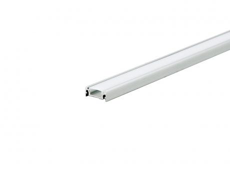 LED Alu U-Profil AL-PU4 silber mit Abdeckung 2,0m
