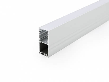 LED Alu U-Profil High 30mm silber mit Abdeckung