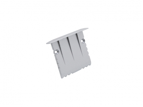 Endkappe LED Alu T-Profil 35mm ohne Kabeldurchgang Alu