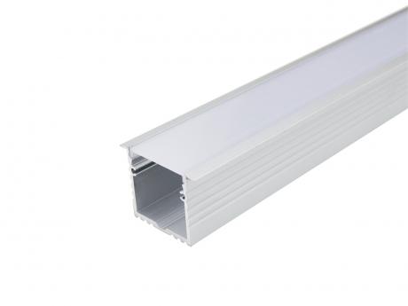 LED Alu T-Profil 35mm silber mit Abdeckung