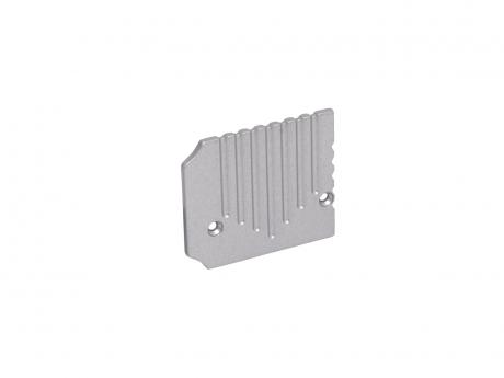Endkappe Alu U-Profil Wand PowerLine35 li ohne Kabeldurchgang