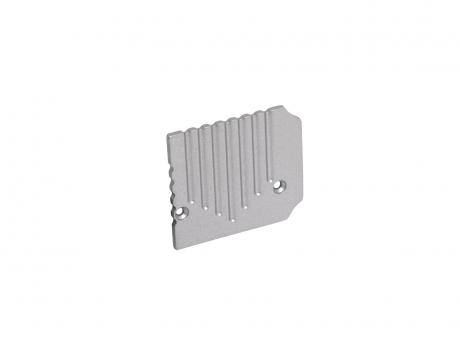 Endkappe Alu U-Profil Wand PowerLine35 re ohne Kabeldurchgang