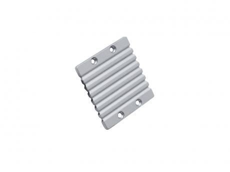 Endkappe Alu Wandprofil groß ohne Kabeldurchgang, Aluminium