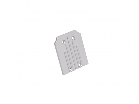 Endkappe LED Alu H-Profil Wand PowerLine35 ohne Kabeldurchg Alu
