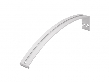 Wandarm L für LED Aluminium Rund-Profil, Aluminium