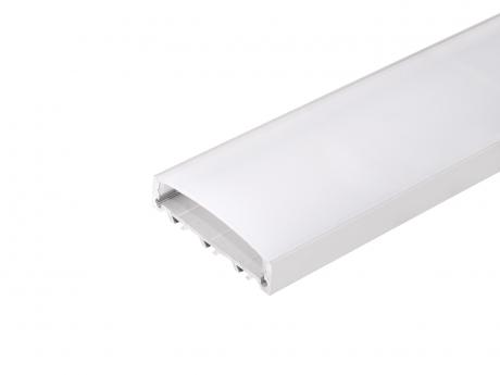LED Alu U-Profil Triple silber mit Abdeckung