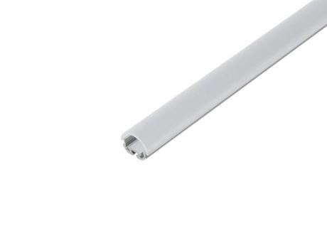 LED Alu Kühlprofil edge-line1 Eck 2,0m transparent 45° Linse