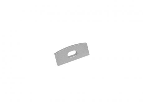 Endkappe LED Alu U-Profil Slim 7mm mit Kabeldurchgang Alu