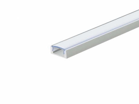 LED Alu U-Profil Slim 7mm silber mit Abdeckung 1,0m opalweiß