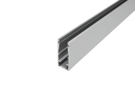 LED Alu Profil für Glashandlauf, silber eloxiert