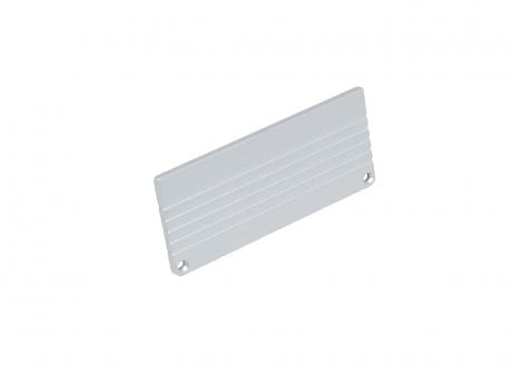 Endkappe LED Alu U-Profil 80mm ohne Kabeldurchgang Alu