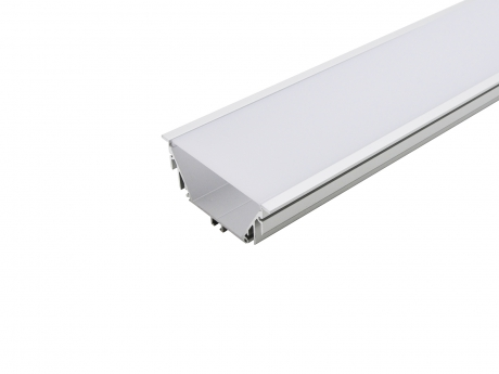 LED Alu T-Profil 80mm silber mit Abdeckung