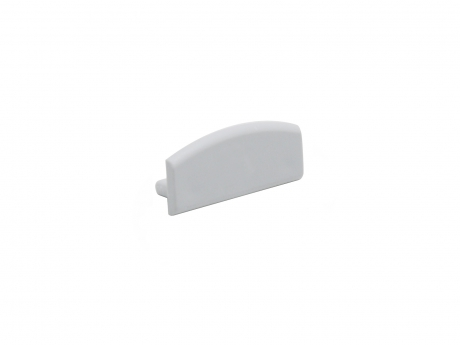 Endkappe LED Alu U-Profil Slim XL 8mm ohne Kabeldurchg Alu